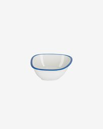 Odalin small porcelain bowl in blue and white