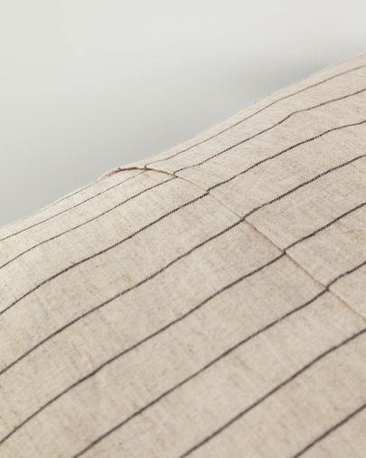 Capa de almofada Sagira 45 x 45 cm riscas cinzento