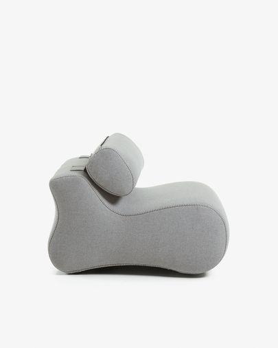 Grey Club armchair