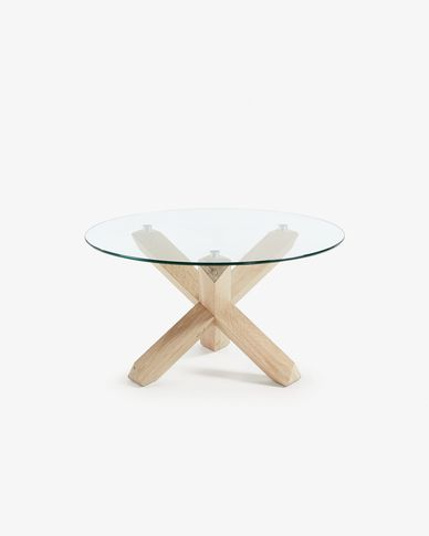Table basse Lotus Ø 65 cm verre