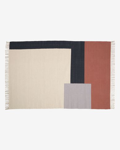 Cataleya 100% cotton multi-coloured rug 160 x 230 cm