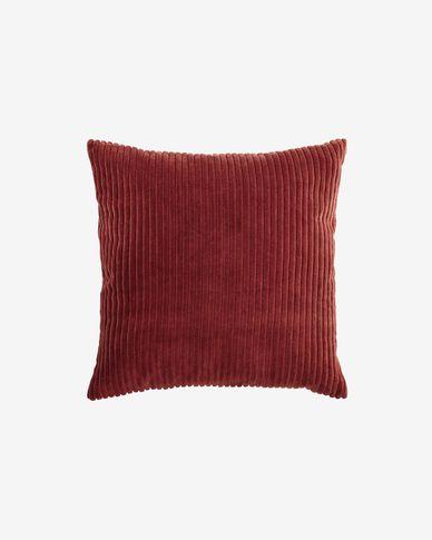 Cadenet cushion cover in terracotta velvet 45 x 45 cm