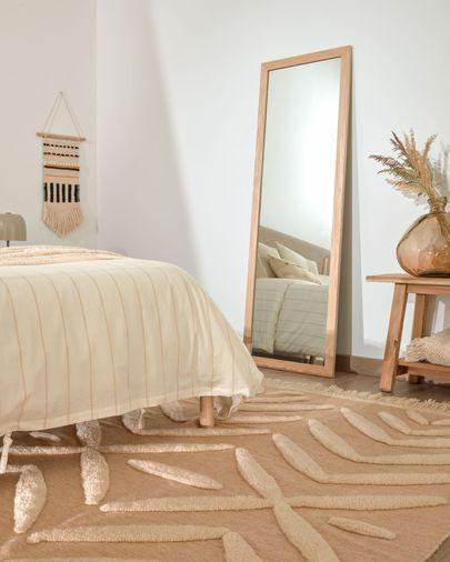 Espelho Yvaine 80,5 x 180,5 cm modura larga com acabamento natural
