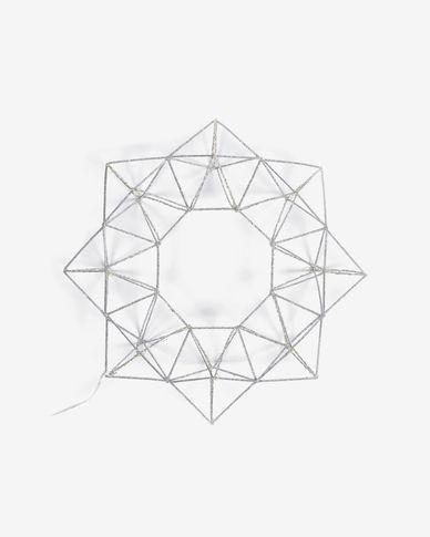 Lichtgevende ster Mishell grijs 3,5 meter