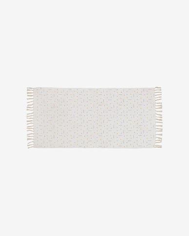 Alannis printed cotton rug 70 x 140 cm