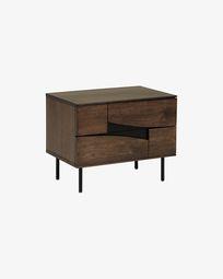 Cutt Nachttisch mit amerikanischem Walnussfurnier 60 x 51 cm