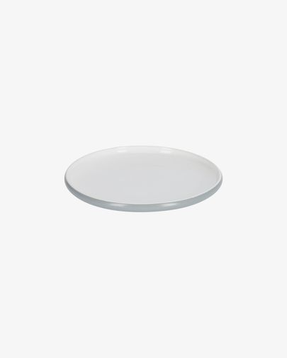 Sadashi porcelain dessert plate in grey and white