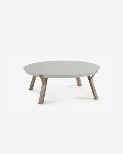 Tavolino Dilos grigio e rovere Ø 90 cm