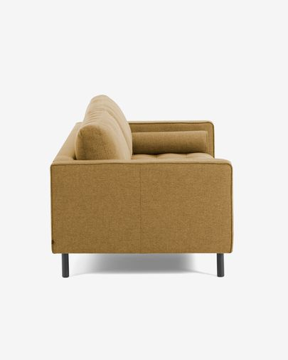 Mustard 3-seater Debra sofa 222 cm