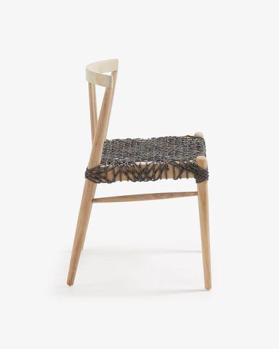 Silla Dreaming madera maciza de teca y cuerda gris