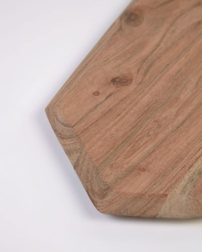 Tabla de servir Romina en forma de heptágono de madera maciza de acacia