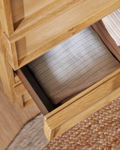 Komoda Taiana z 5 szufladami z fornirem dębowym 60 x 110 cm