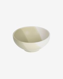 Sayuri small porcelain bowl in green and white