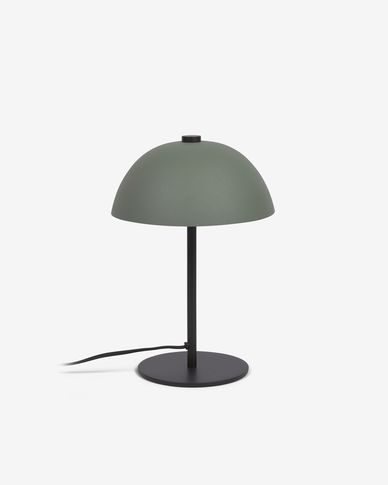 Aleyla metal table lamp with green finish