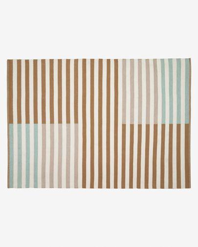 Aien multi-coloured striped PET mat