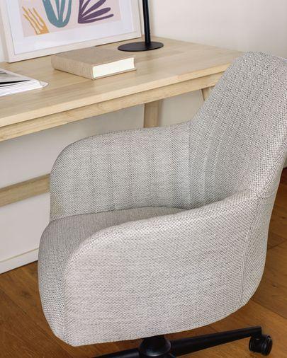 Silla de escritorio Madina gris claro