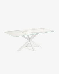 Argo tafel 160 cm porselein wit benen