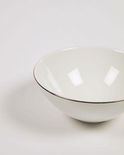 Bol pequeño Taisia de porcelana blanco
