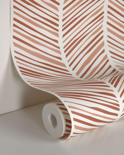 Papel pintado Uriana estampado de rayas marrón 10 x 0,53 m  FSC MIX Credit