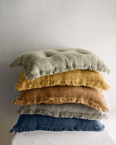 Cojín para silla Brunela 100% algodón azul 45 x 45 cm