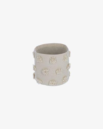Panier petit Khrista 100% coton (GOTS) beige