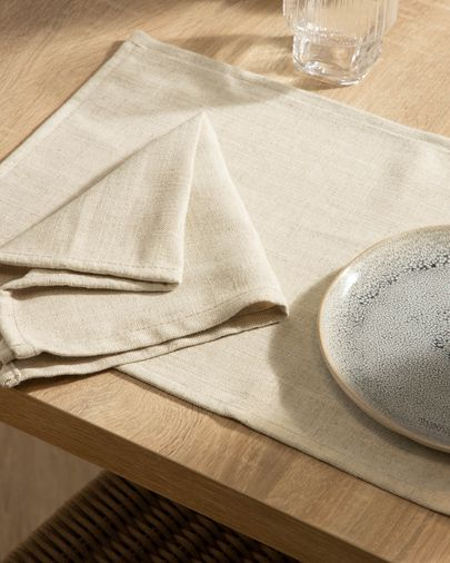 Zestaw Samay 4 serwetek biały