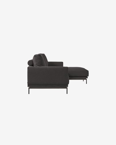 Galene grey 3-seater sofa with right chaise longue 314 cm
