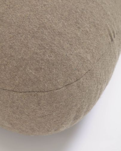 Puf Gaby 100% lana marrón