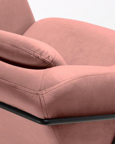 Butaca Brida terciopelo rosa