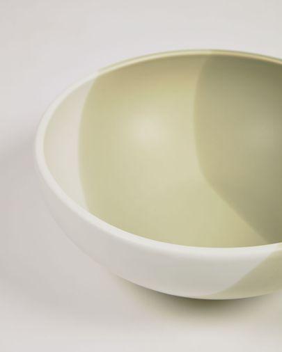 Taça grande Sayuri de porcelana verde e branco