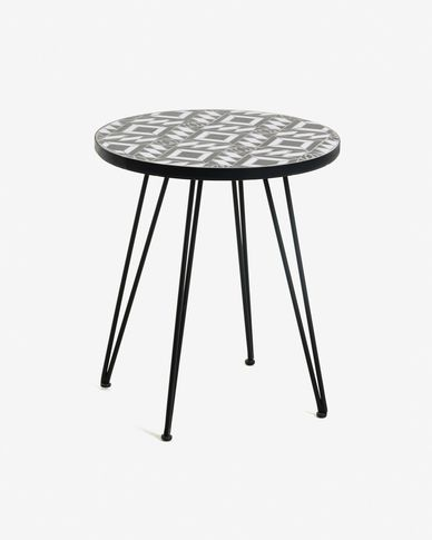 Tavolino Oswalda Ø 46 cm nero