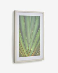 Lyn picture with green aloe 50 x 70 cm