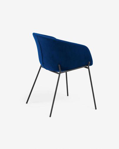 Cadeira Yvette veludo azul