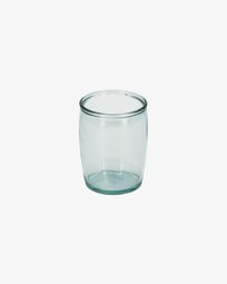 Portaspazzolino Trella transparente in vetro 100% riciclato
