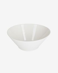 Pierina large oval porcelain bowl in white