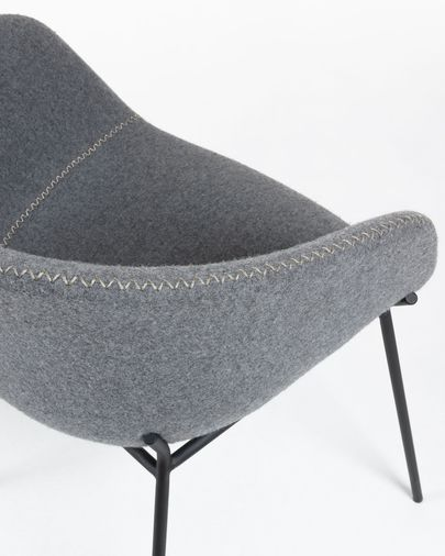 Silla Yvette lana gris