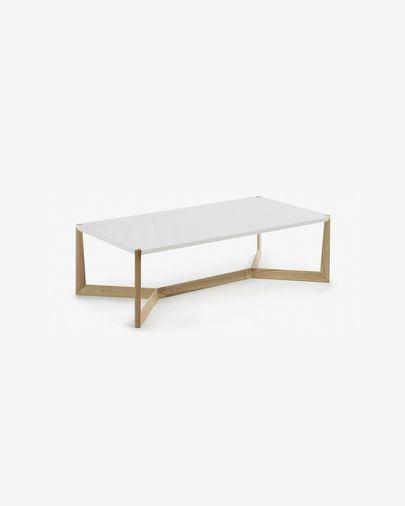 White and ash Quatro coffee table 120 x 60 cm