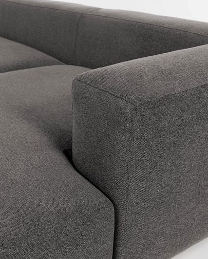 Sofá Blok 2 plazas chaise longue derecho gris 240 cm