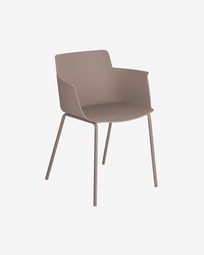 Hannia brown chair with arms