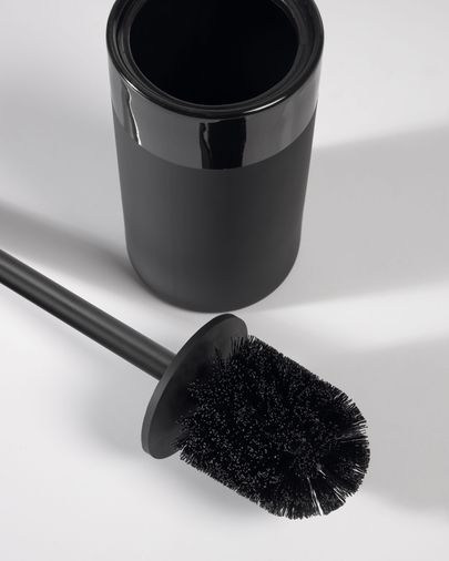 Riga black toilet brush