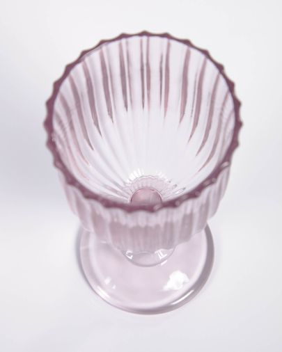 Copa de vino Savelia de vidrio rosa claro 20 cl