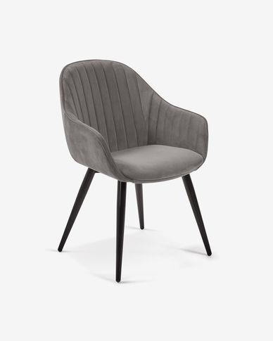 Fabia grey velvet chair