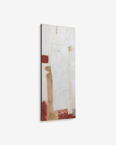 Schilderij Winona canvas in wit, rood en goud 50 x 120 cm