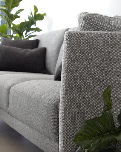 Gilma 3-seater sofa with left-hand chaise longue in grey 260 cm