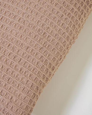 Housse de coussin Shallowy 100% coton rose 30 x 50 cm