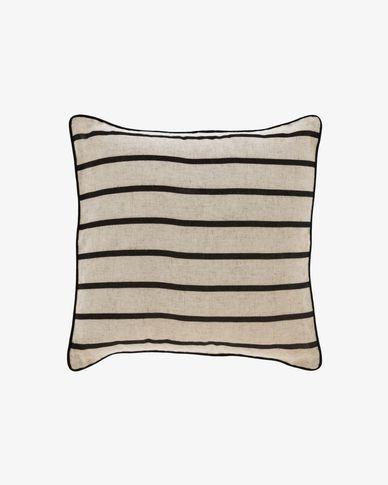 Sagira black stripes cushion cover 45 x 45 cm