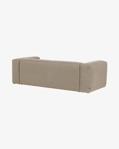 Blok 2-seater sofa with right-hand chaise longue in beige 240 cm