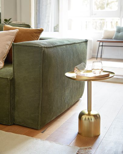 Adaluz side table in gold-coloured metal Ø 37 cm