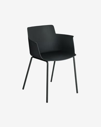 Cadira amb braços Hannia negre