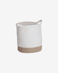 Cesta Telma algodón y yute mediana